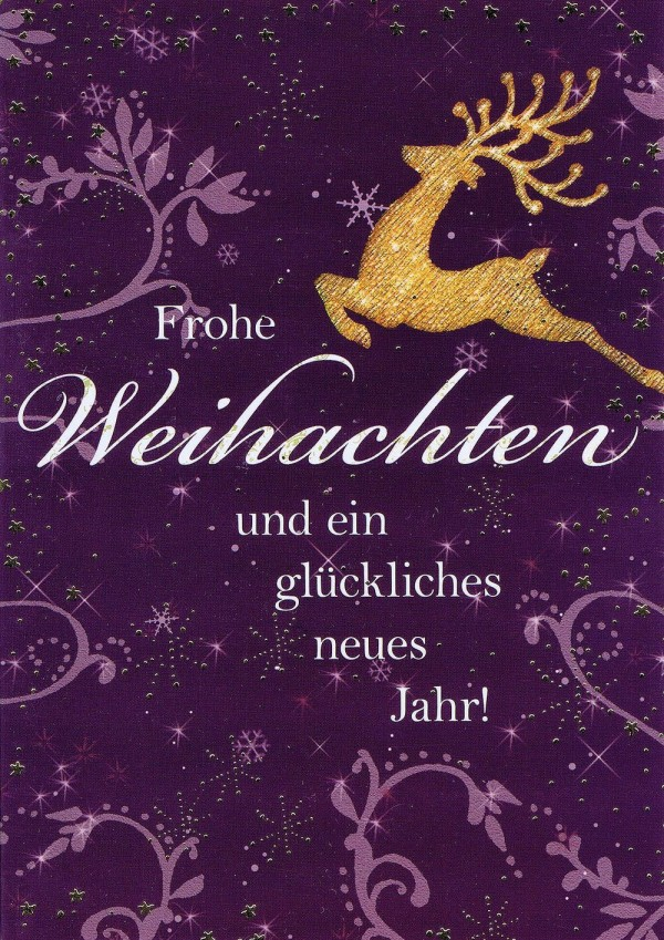 Weihnachtskarte Motiv: Rentier - Frohe Weihnachten