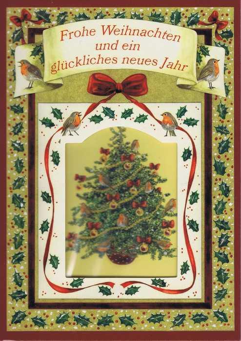 Weihnachtskarte Motiv: Weihnachtsbaum - Frohe Weihnachten