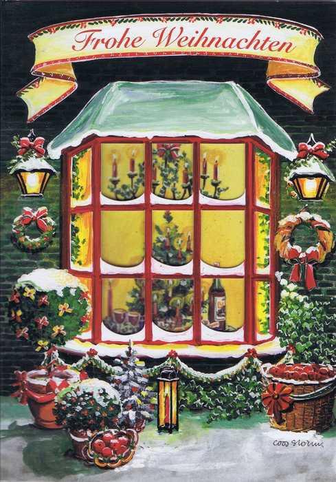 weihnachtskarte motiv weihnachten zu hause frohe weihnachten. Black Bedroom Furniture Sets. Home Design Ideas