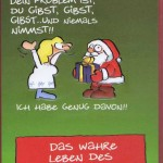 Weihnachtskarte: Das wahre Leben des Weihnachtsmannes
