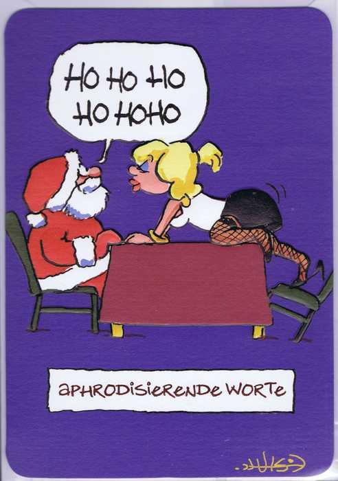 Weihnachtskarte: Aphrodisierende Worte
