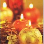 Weihnachtskarte ohne Text: Fotomotiv Kugelkerzen