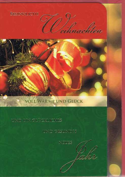 Hochwertige Weihnachtskarte: Besinnliche Weihnachten