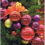 Weihnachtskarte mit wunderschönen Fotomotiv: Weihnachtskugeln