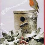 Weihnachtskarte: Wintervogel
