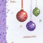 Handgearbeitete Weihnachtskarte