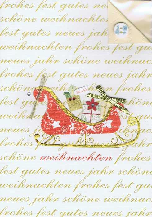 Handgearbeitete Weihnachtskarte | Kartenwichtel.de