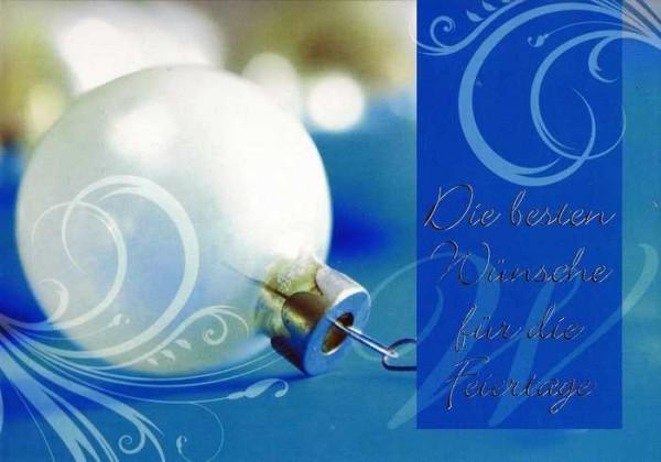 Kleine Weihnachtskarte - Weihnachtskugel