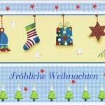 Kleine Weihnachtskarte - Fröhliche Weihnachten