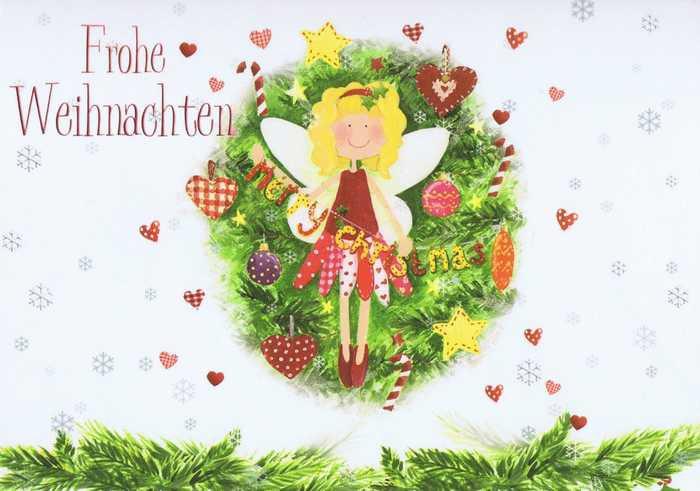 Kleine Weihnachtskarte - Frohe Weihnachten