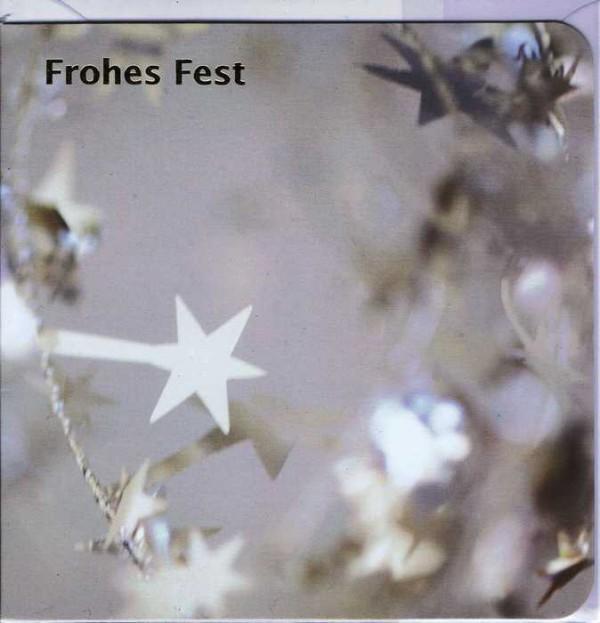 Quadratische Weihnachtskarte Frohes Fest