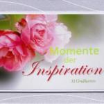Kartenaufsteller - Momente der Inspiration - 32 Postkarten, mit Passepartout