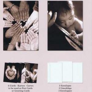 Portfolios pf4 Hands, 6 Jumbo Poster Cards und 3 Umschläge