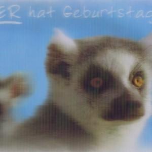 Große Postkarte Geburtstag Arte Viva 3D Lentikularkarte
