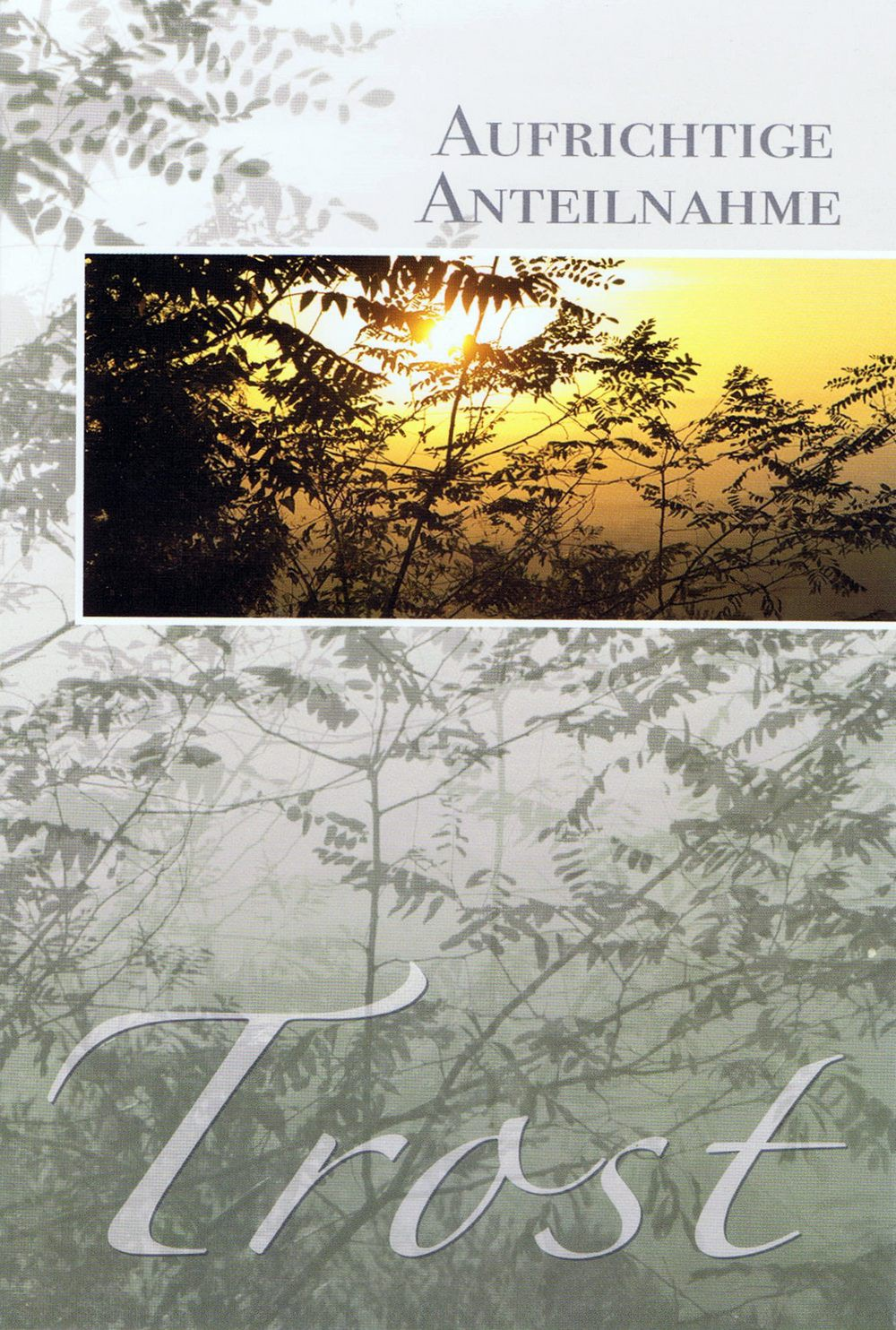 Beileidskarte mit Landschaftsmotiven - Trost