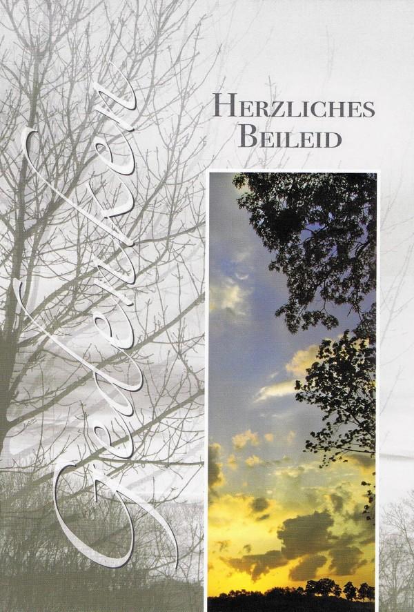 Beileidskarte mit Landschaftsmotiven - Gedenken