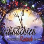 Weihnachtskarte mit Grüsse Jahreswechsel - Motiv Uhr