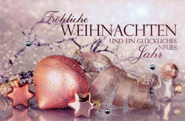 Weihnachtskarte mit Steinchen - Weihnachtsschmuck
