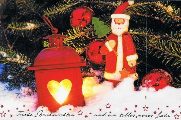 Weihnachtskarte mit Weihnachts-Laterne