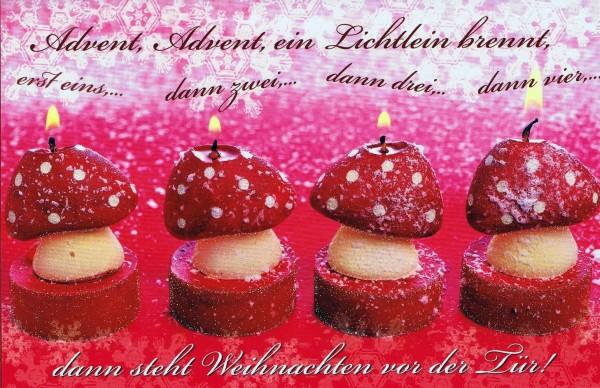 Lustige Weihnachtskarte - Advent, Advent