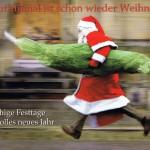 Lustige Weihnachtskarte - Weihnachtsstress