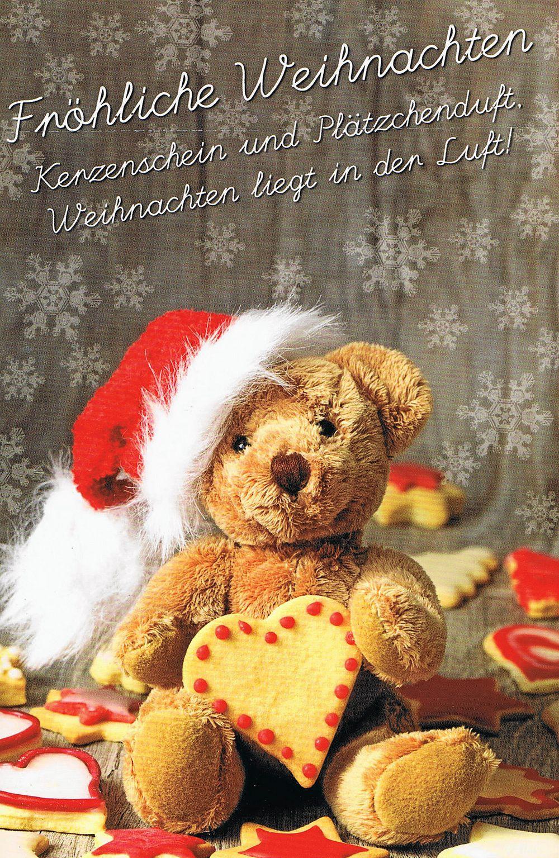 Süsse Weihnachtskarte - Weihnachtsteddy