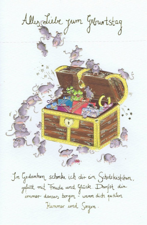 """Geburtstags-Karte Skorpion's Art """"Die Minie's"""" mit Spruch"""