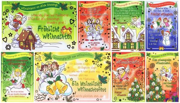 Weihnachtskarten 8 Stück: Weihnachtspost Schutzengel