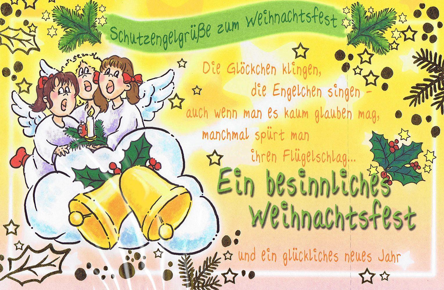 Weihnachtskarte 3478: Weihnachtsgrüße vom Schutzengel