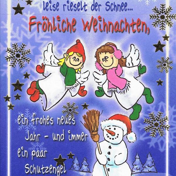 Weihnachtskarte 3485: Weihnachtsgrüße vom Schutzengel