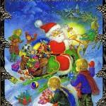Weihnachtskarte, Lustiger Weihnachtsmann, 22-3328