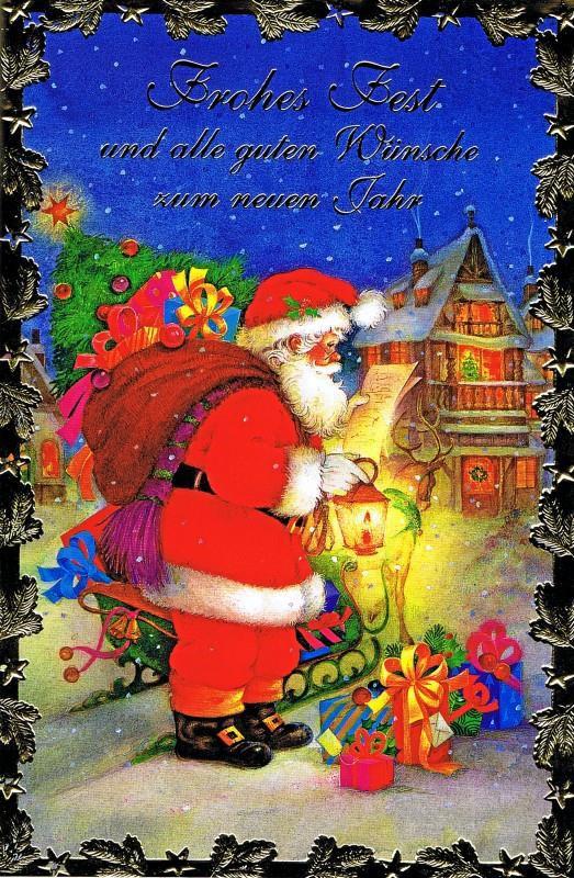 Weihnachtskarte, Lustiger Weihnachtsmann, 22-3323