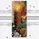 Weihnachtskarte Kerzenmotiv 201251