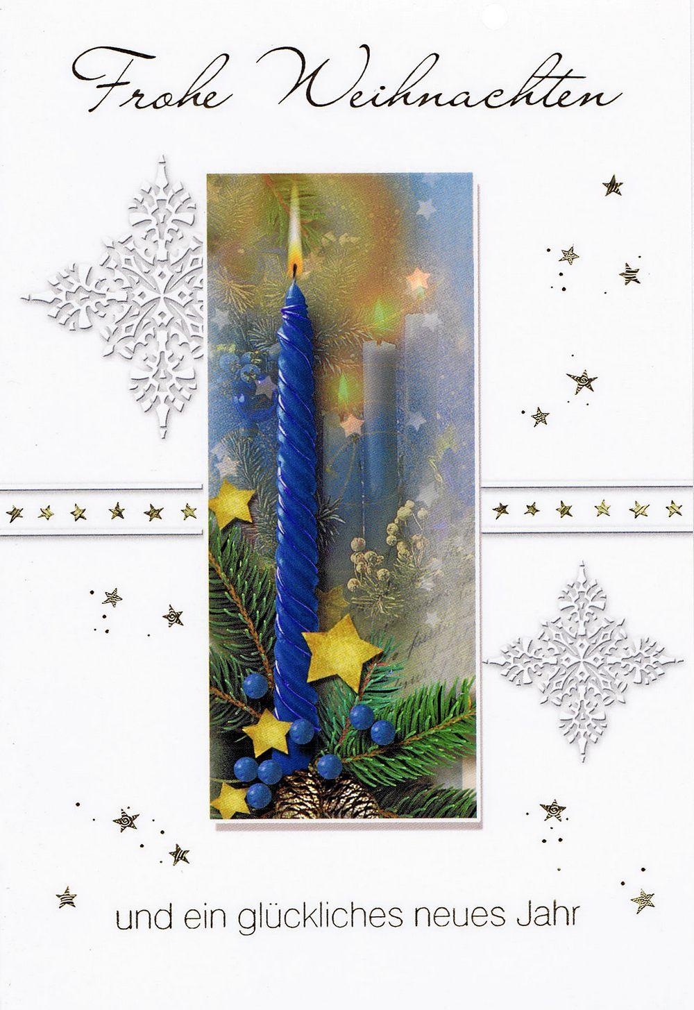 Weihnachtskarte Kerzenmotiv 201252