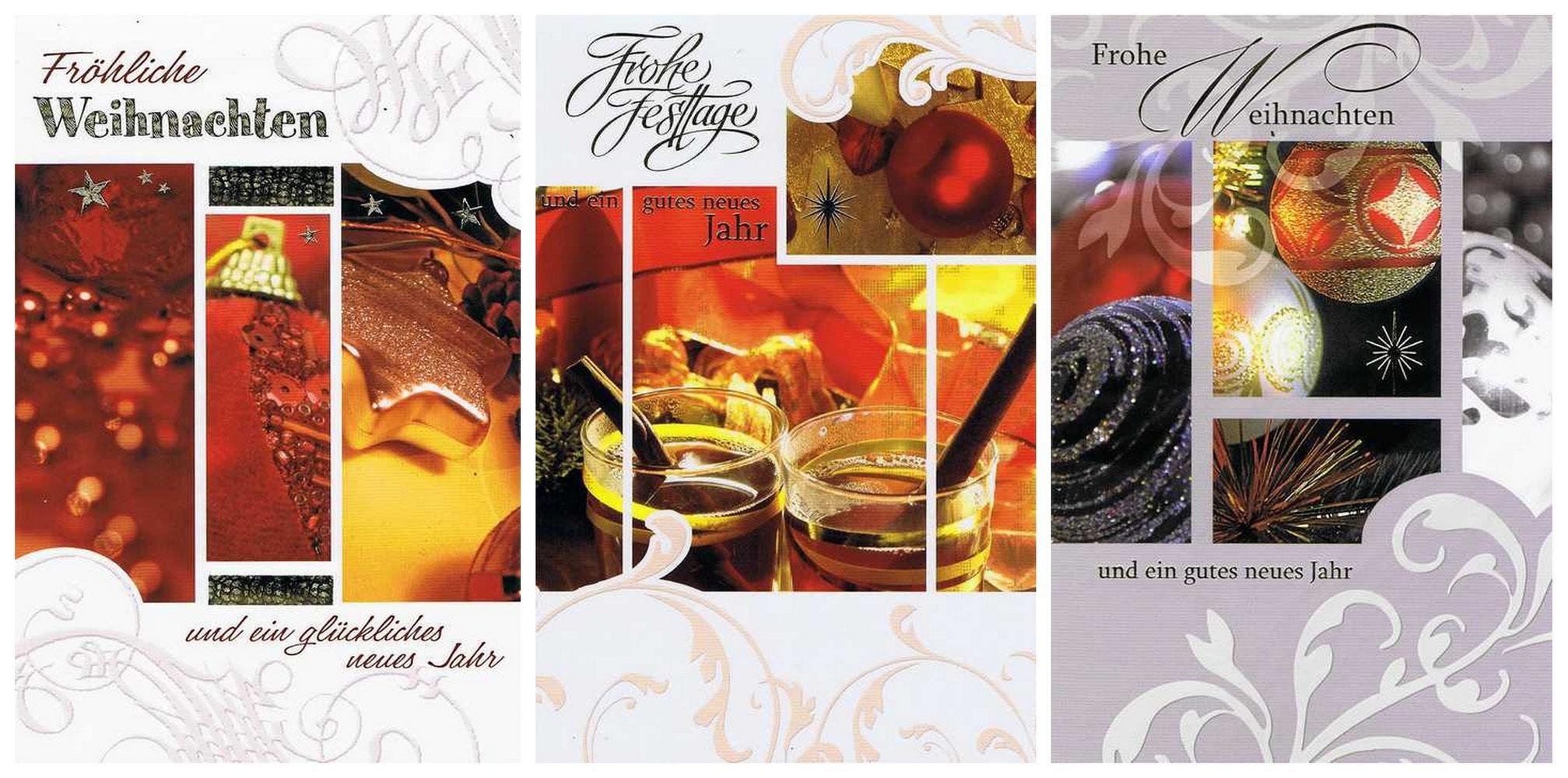 3 Weihnachtskarten mit netten Motiven für frohe Weihnachten