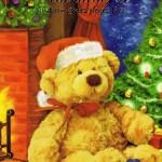 Weihnachtskarte - Teddybär Weihnachten 1