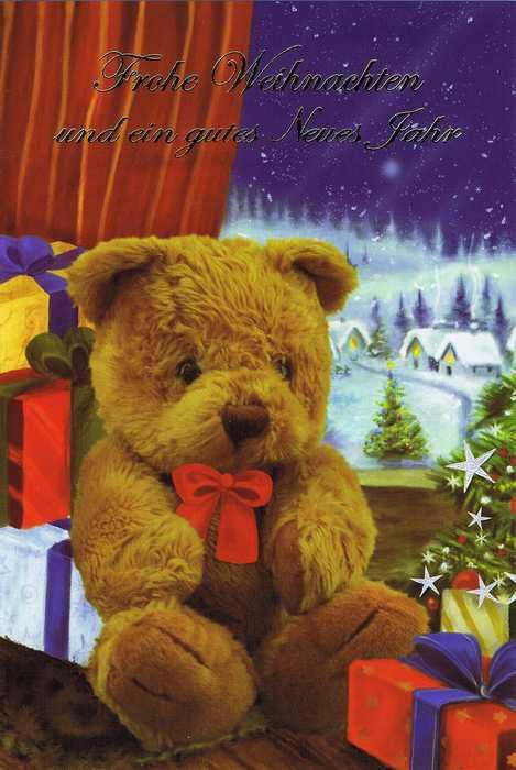 Weihnachtskarte - Teddybär Weihnachten 2