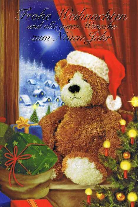 Weihnachtskarte - Teddybär Weihnachten 3
