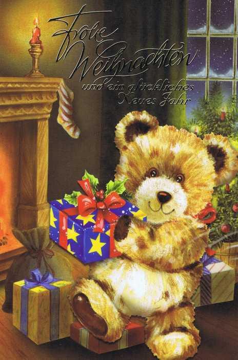 Weihnachtskarte - Teddybär Weihnachten 6
