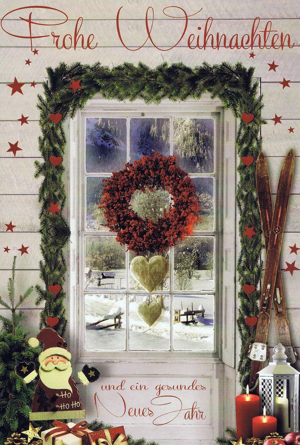 """Weihnachtskarte """"Schöne Aussicht"""" Fenstermotiv 3"""