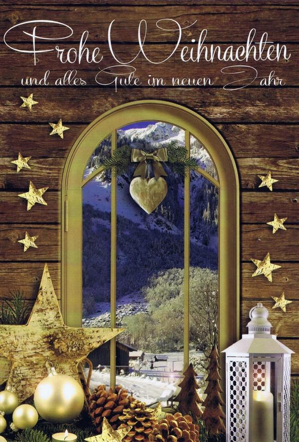 """Weihnachtskarte """"Schöne Aussicht"""" Fenstermotiv 5"""
