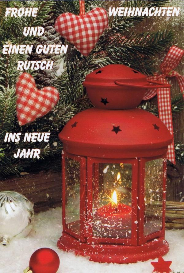 Weihnachtskarte 1 - Rote Laterne