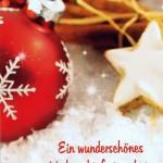 Weihnachtskarte 2 - Weihnachtskugel und Zimt
