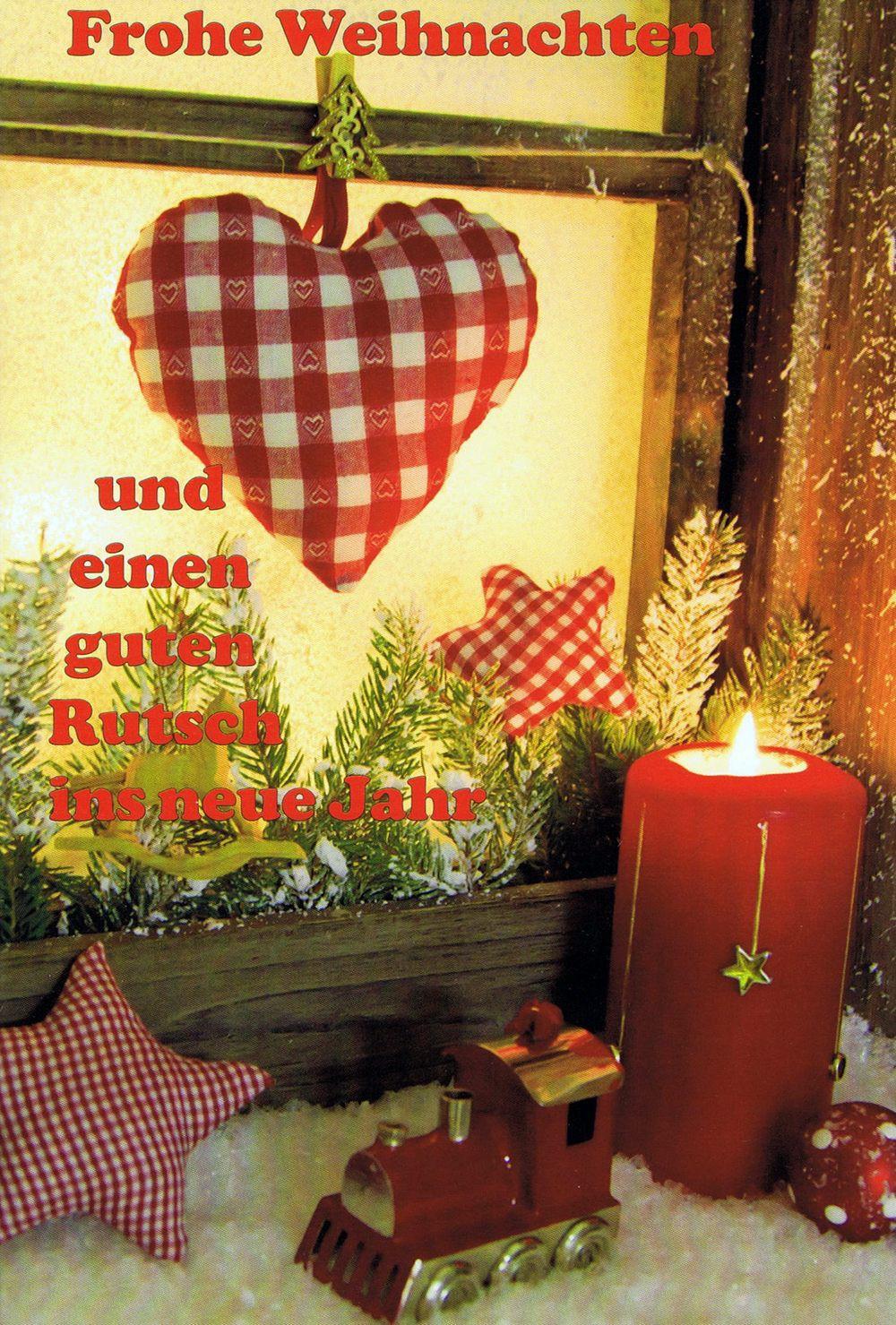 Weihnachtskarte 3 - Kerze am Fenster