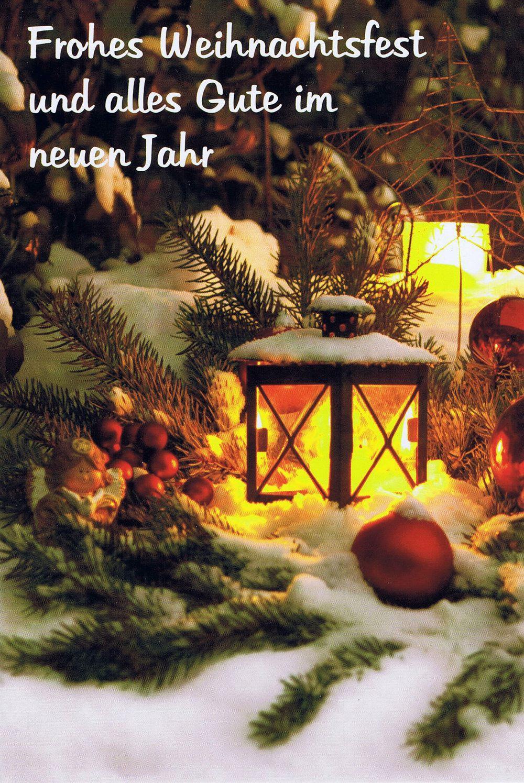 Weihnachtskarte 5 - Laterne