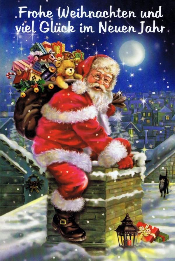 """Weihnachtskarte Weihnachtsmann """"Nostalgie"""" 4"""