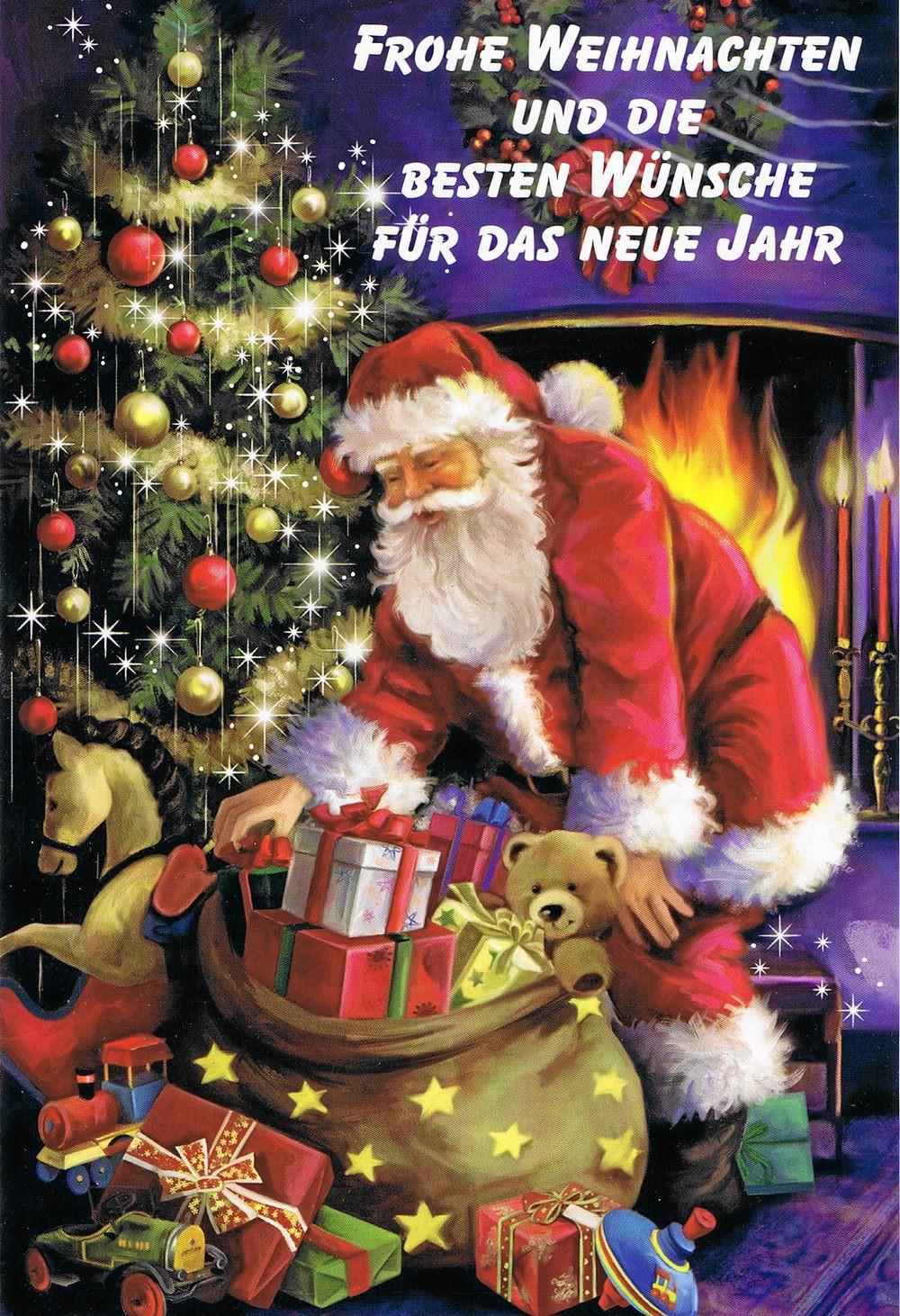 Weihnachten Nostalgisch.Weihnachtskarte Weihnachtsmann Nostalgie 6