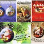 Weihnachtskarten 8 Stück: Weihnachtsmotive