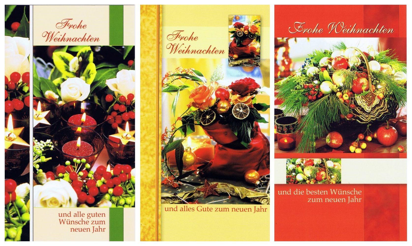 3 Klassische Weihnachtskarten mit Fotomotiv