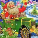 Weihnachtskarte mit Glimmer 223676 Weihnachtsmannmotiv